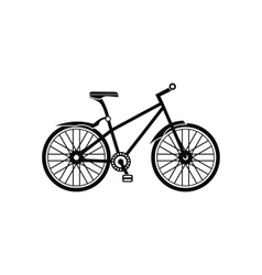 Bicycle black simple icon vector