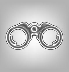 binocular sign pencil sketch vector image