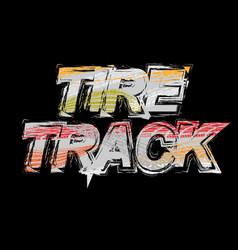 Black tire track grunge background vector