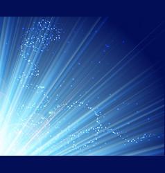 blue shining magic light background vector image