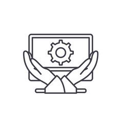business development line icon concept business vector image