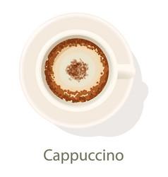 Cappuccino icon cartoon style vector