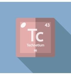 Chemical element Technetium Flat vector