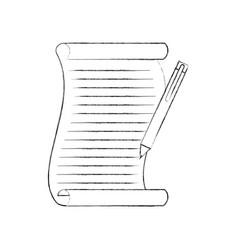 christmas wish list and pen write design vector image