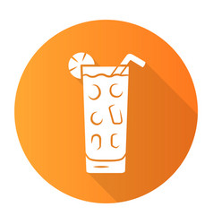 Cocktail in highball glass orange flat design vector