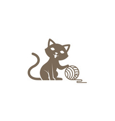 Creative cute cat logo vector