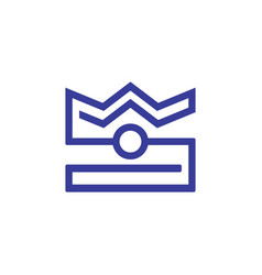 crown camera logo vector image