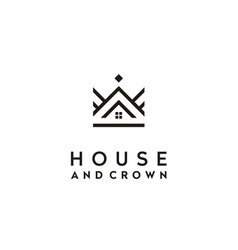 crown house home roof king queen real estate logo vector image