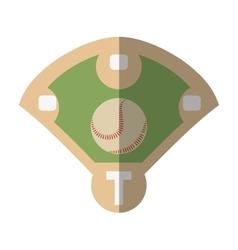 Diamond camp baseball icon vector