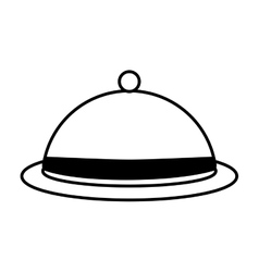 dome kitchen food service outline vector image