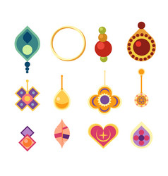 earrings icon set vector image