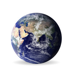 earth with shadowelements of this furnished by vector image