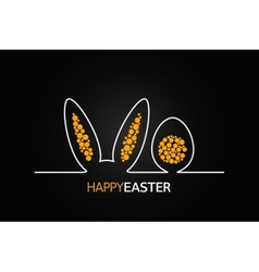 Easter design background vector