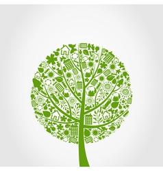 Ecology tree vector image