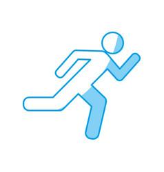 Exit sign icon vector