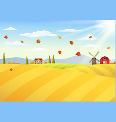 farm landscape at autumn vector image