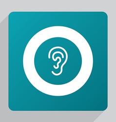 Flat ear icon vector