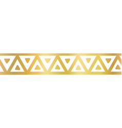 Geometric seamless border golden metallic vector