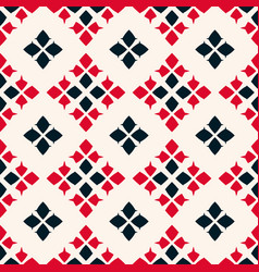geometric seamless pattern folk ornament red vector image
