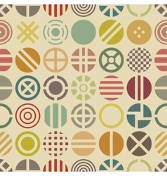 Geometric seamless pattern with round shapes vector
