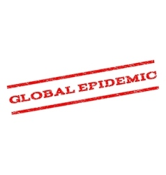 Global Epidemic Watermark Stamp vector