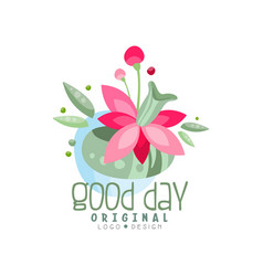 Good day logo design element can be used for vector