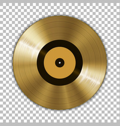 gramophone golden vinyl lp record template vector image