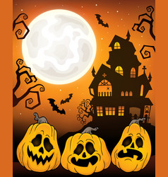 halloween pumpkins theme image 5 vector image