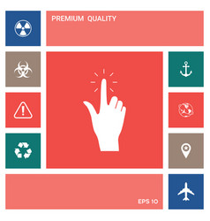 hand click icon elements for your design vector image