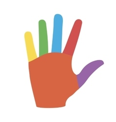 Hand with Colorful Fingers vector