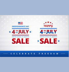 happy 4th july independence day usa sale vector image