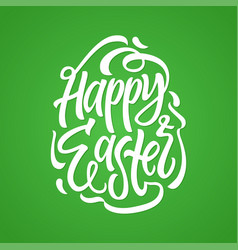 Happy easter - hand drawn brush pen vector