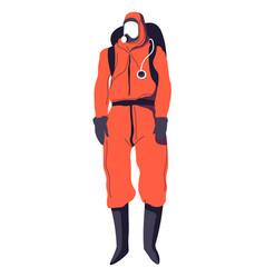 Hazmat suit disinfecting service laboratory vector