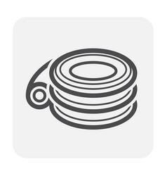 Hdpe pipe icon vector