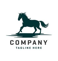 horse and pegasus logo design template vector image
