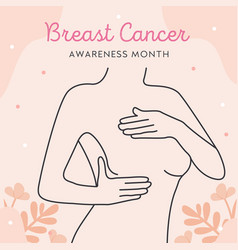 international day against breast cancer line art vector image