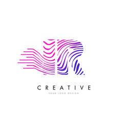Ir i r zebra lines letter logo design with vector