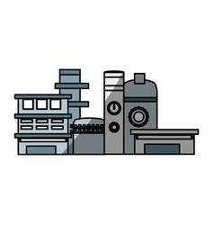 isolated factory building vector image