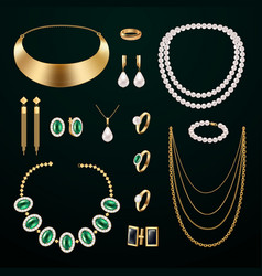 Jewelry accessories set vector