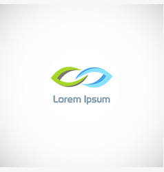 leaf connect logo vector image