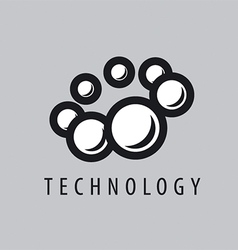 Logo balls fly in a circle vector