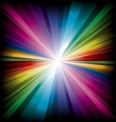 magic radial rainbow light vector image