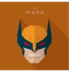 Mask hero into flat style graphics art vector image vector image