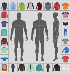 men clothing set vector image