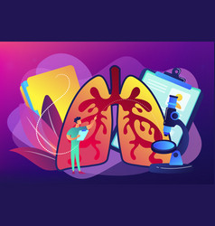 Obstructive pulmonary disease concept vector