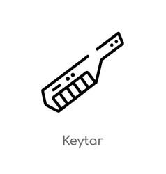 Outline keytar icon isolated black simple line vector