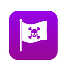 Pirate flag icon digital purple vector