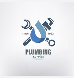 Plumbing service logo template stylized symbol vector