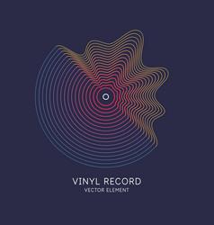 Poster vinyl record vector