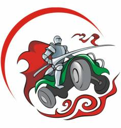quad bike knight vector image